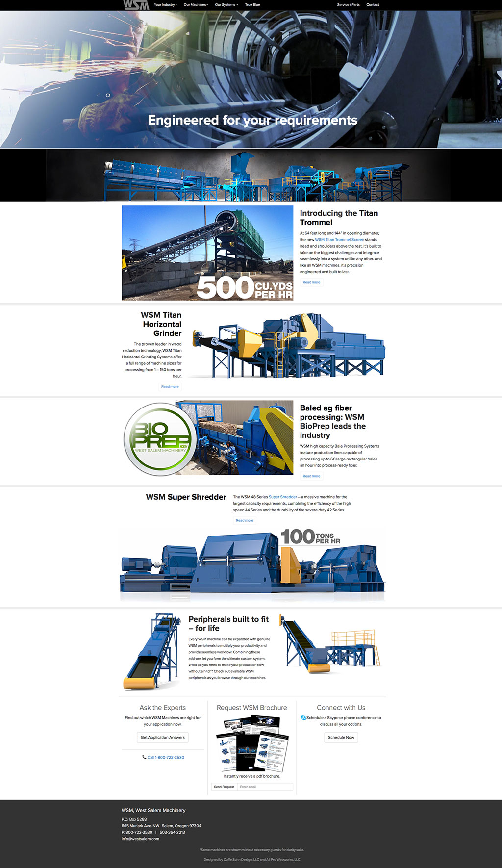 website design salem oregon - west salem machinery